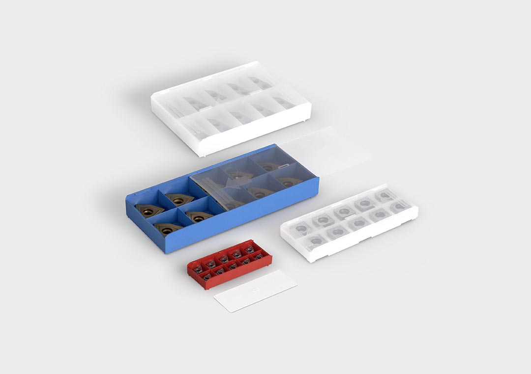 InsertBox: a packaging box for indexable inserts.